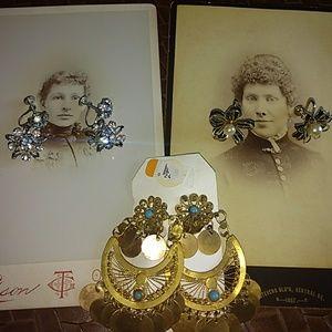 Clip-on earrings bundle lot